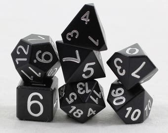 Mini Zucati EleMetal Aluminum Dice - Knight Black