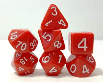 Perfect Plastic Dice - Gloss Polish with Ink - Red / White Ink