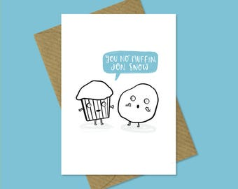Game of Thrones Greetings Card - Jon Snow
