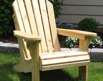 Premium Knotty Cedar Adirondack Chair Kit