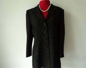 Vintage Gail Hoppen longline lined jacket size USA 12 - UK 14 -EU 40