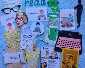Retro Librarian Kit