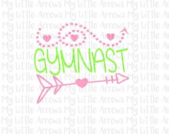 40% off - Gymnast SVG, DXF, EPS, png Files for Cutting Machines Cameo or Cricut // cute girly svg // gymnastic svg // gymnast svg
