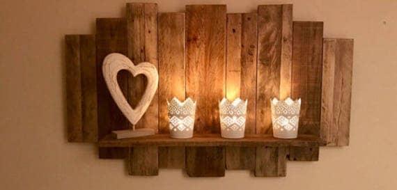 flottant de style rustique plateau de bois r cup r. Black Bedroom Furniture Sets. Home Design Ideas