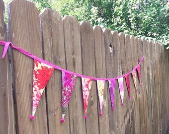 Flower Bunting - Pink