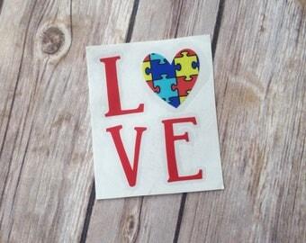 Autism Awareness decal | Autism decal | Love autism decal