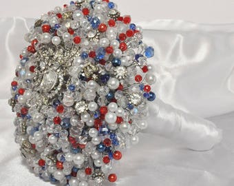 Crystal & Pearl Bridal Bouquet
