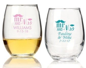 Personalized Stemless Wine Glasses-(25 pieces)-Stemless Wine Glasses