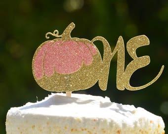 One Pumpkin Cake Topper, Pumpkin Cupcake Toppers,Our Little Pumpkin turns one,Pumpkin Birthday ,Cake and cupcake toppers,Halloween Birthday