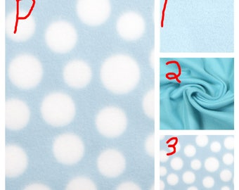 Blue with White Dots - Teen/Adult Fleece Weighted Blanket
