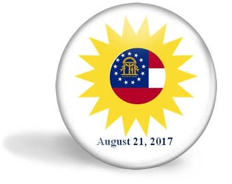 Georgia Eclipse Magnet, Eclipse Party Pin, Georgia Eclipse Pin, Total Solar Eclipse, 2017 Eclipse, Eclipse Party Favor