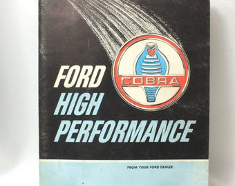 Ford High Performance Cobra Catalog, Ford Hipo Vintage Auto Parts