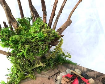 Fire Hut, Fairy House, Fairy Hut, Gnome House, Dollhouse, Waldorf, Natural Toys