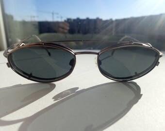 Rodenstock R4231 Eyeglasses w/Clip-on Sunglasses Lens Japan