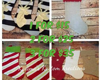 Monogram stockings, Christmas stocking,Monogram, Christmas stocking,personalised stocking