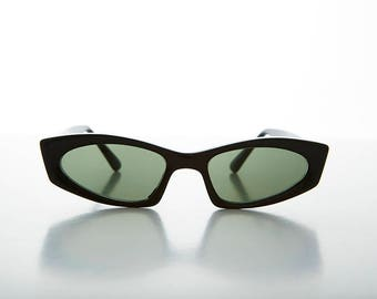 Vintage Hipster Cool Thin Crazy Cat Eye Sunglasses - Cortney