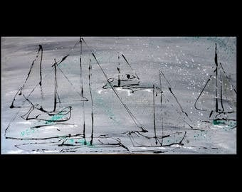 abstract painting modern art daydreams large format