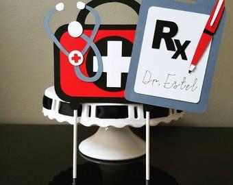 Medical Cake Topper, Doctor Cake Topper, Nurse Cake Topper, Healthcare Cake Topper
