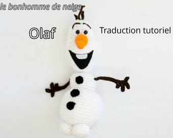 Amigurumi crocheted snowman Olaf