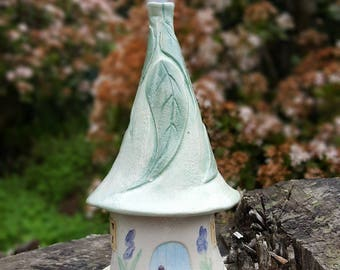 Handmade Stoneware Pottery Incense House, Fairy House,