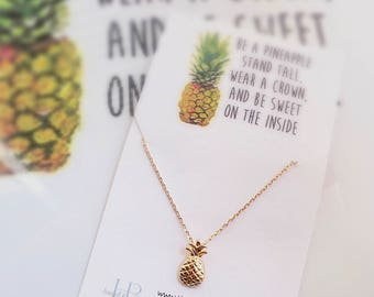 Pineapple Necklace Dainty Pineapple Necklace