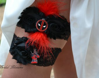 Deadpool Bridal Garter Set