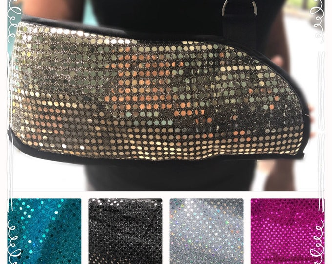 Fancy Sparkly Arm Sling - Child arm sling - Adult arm sling - fashionable arm sling- broken arm sling- custom arm sling - get well gift