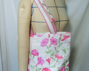 "Tote bag pattern ""shopping"" in 100% cotton upholstery fabric"