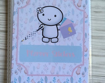 Doodle planner sticker book Daisy doodle planner sticker book,  4x6 Sticker storage, sticker album. sticker organizer, planner accessory