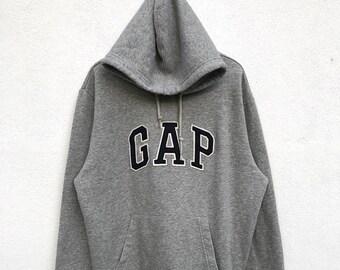 """20% OFF Vintage Gap Spell Out Hoodie / Gap Sweater / Gap jumper / Big Logo Sweatshirt / Armpit 23.5"""""""