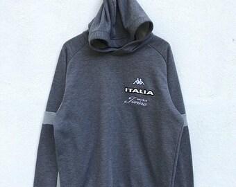 20% OFF Vintage Kappa Italia Hoodie Sweater / Kappa Italia / Kappa Clothing / Kappa Pullover / Kappa Sportwear