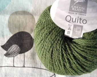 WOOL QUITO forest - white horse