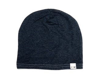 The Navy Beanie, modern kids and baby slouchy / slouch beanie