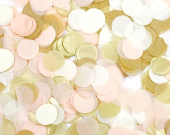 Champagne Kisses Confetti, Beige Peach Confetti, Shred, Table Decor, Confetti Balloon, First Birthday, Bachelorette, Baby Shower, Wedding