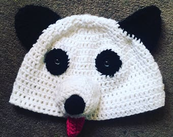 Panda bear head beanie hat crochet