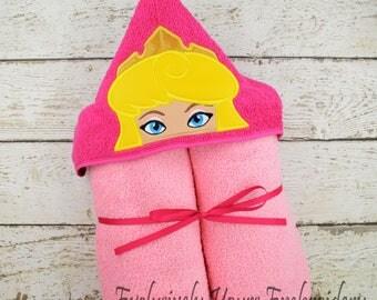 Sleeping Princess Children's Hooded Towel