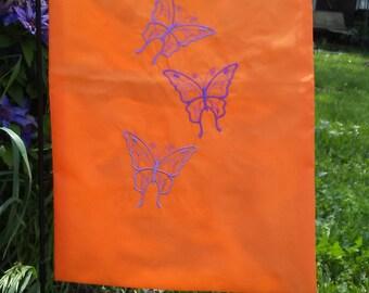 Fluttering butterflies garden flag