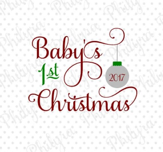 Baby 1st Christmas Svg Christmas Svg Digital Cutting File