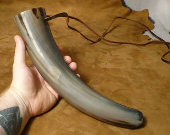 Blowing horn, loud Viking style war trumpet, signal device