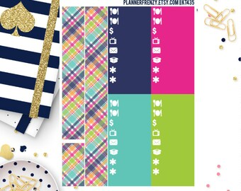 "Brighter Days Collection Bottom ""Washi"" and Various Label Planner Stickers! KT435"