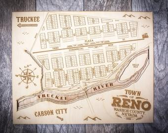 Vintage Reno Map
