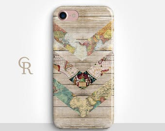 Map iPhone 8 Case For iPhone 8 iPhone 8 Plus - iPhone X - iPhone 7 Plus - iPhone 6 - iPhone 6S - iPhone SE - Samsung S8 - iPhone 5