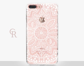 Mandala iPhone 7 Plus Case - Clear Case - For iPhone 8 - iPhone X - iPhone 7 Plus - iPhone 6 - iPhone 6S - iPhone SE Transparent - Samsung