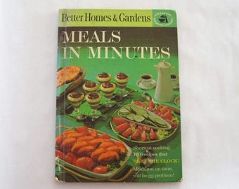 Vintage Cookbook Meals in Minutes Better Homes & Gardens