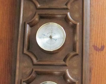 Vintage Springfield Weather Station Thermometer, Barometer, Humidity Gauge Meter