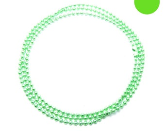 NECKLACE 45cm ball chain 1.5 mm Apple green