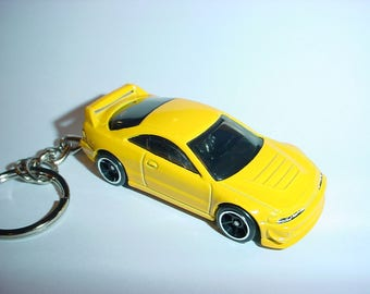 3D Acura Integra GSR custom keychain by Brian Thornton keyring key chain finished in YELLOW color trim 2001