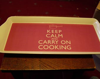 Keep Calm and Carry On Cooking Sandwich Tray