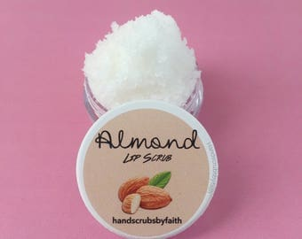 Almond Sugar Lip Scrub, Gift for Her, Edible Lip Scrub, Bath & Beauty, Handmade