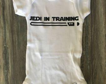 Jedi in Training- StarWars Onesie